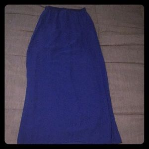 Divided by H&M blue maxi skirt 6 Small ADD ON ITEM